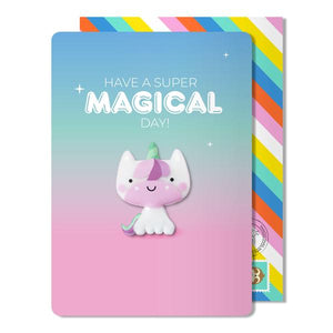 Magical day magnet card