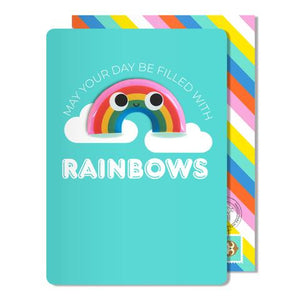 rainbow birthday magnet card