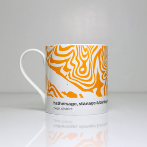 Peak District Contour mug-Hathersage, Stanage & Burbage Edge