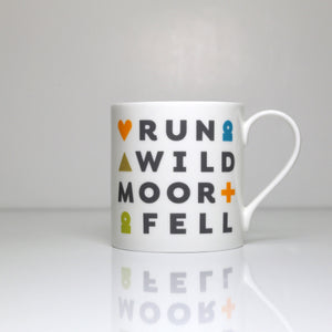 Peak District words mugs I love the Peak District – run wild moor fell