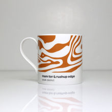 Load image into Gallery viewer, Peak District Contour mug- Mam Tor & Rushup edge