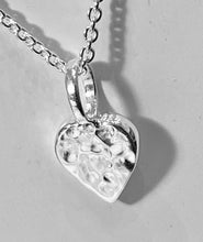 Load image into Gallery viewer, Chris Lewis hammered little hearth pendant necklace