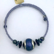Load image into Gallery viewer, Murano glass Berenice bracelet Purple