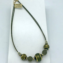 Load image into Gallery viewer, Murano glass Necklace Berenice Green
