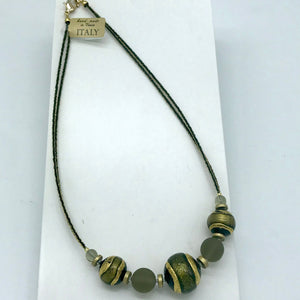 Murano glass Necklace Berenice Green