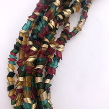 Load image into Gallery viewer, Murano glass Necklace Egyptian multistrantd red green gold