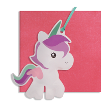 Load image into Gallery viewer, inflatable unicorn card