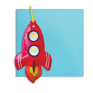Inflatable rocket card