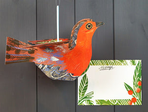 art angels 3D cards-flying robin