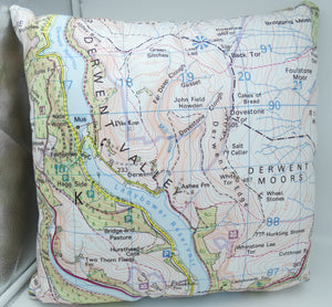 Sheffield map cushions