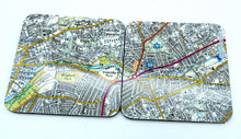 Load image into Gallery viewer, Sheffield map coasters Sharrowvale/botanical gardens set of 2