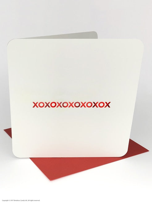 XOXOXOX (RED FOILED) LOVECARD