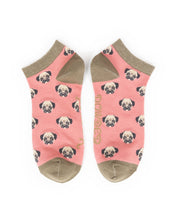 Load image into Gallery viewer, Powder Candy Pug trainer Socks-one size