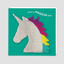 Load image into Gallery viewer, Redback shine sequins card unicorn