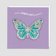 Load image into Gallery viewer, Redback shine sequins card butterfly