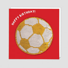 Load image into Gallery viewer, Redback shine sequins card football