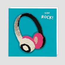 Load image into Gallery viewer, Redback shine sequins card HEADPHONES
