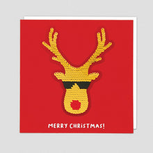 Load image into Gallery viewer, Redback shine sequins card RUDOLPH