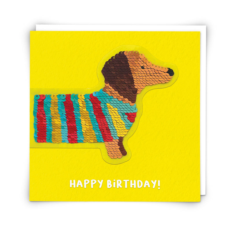 Copy of Redback shine sequins card sausage Dog