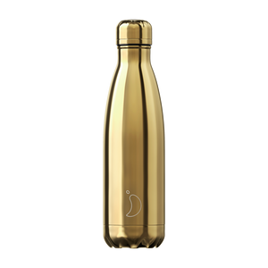 Chilly bottle 500ml Chrome gold