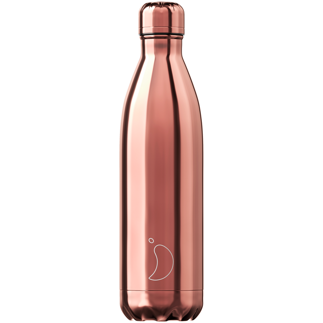 Chilly bottle 750ml Chrome rose gold