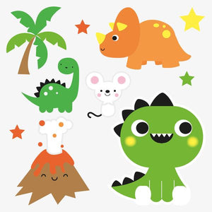 Dino card | with temporary tattoos