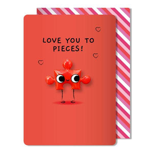 puzzle piece magnet card