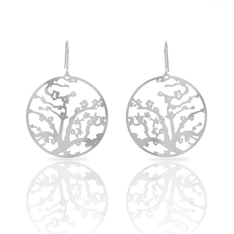 Almond Blossom Silver Earring