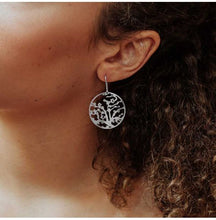 Load image into Gallery viewer, Almond Blossom Silver Earring