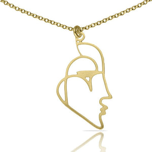 Beso Venecia Gold plated Short Pendant
