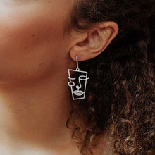 Load image into Gallery viewer, CUBISM SILVER PLATED  EARRINGS
