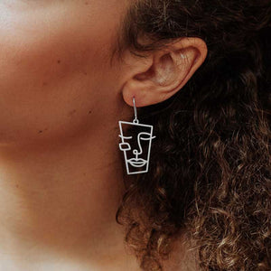 CUBISM SILVER PLATED  EARRINGS