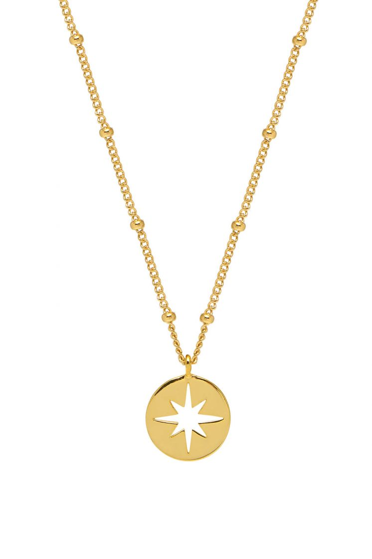 Estella Bartlett necklace -Starburst disk- Gold plated