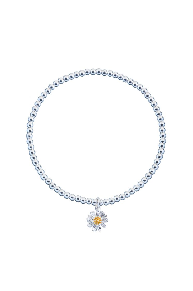 Estella Bartlett bracelet -Wildflower with silver beads- Silver plated