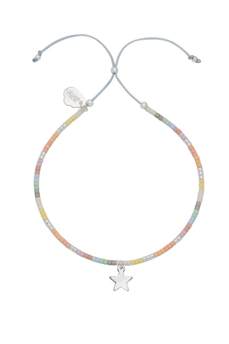 Estella Bartlett bracelet -Star multicolour Phoebe- Silver plated