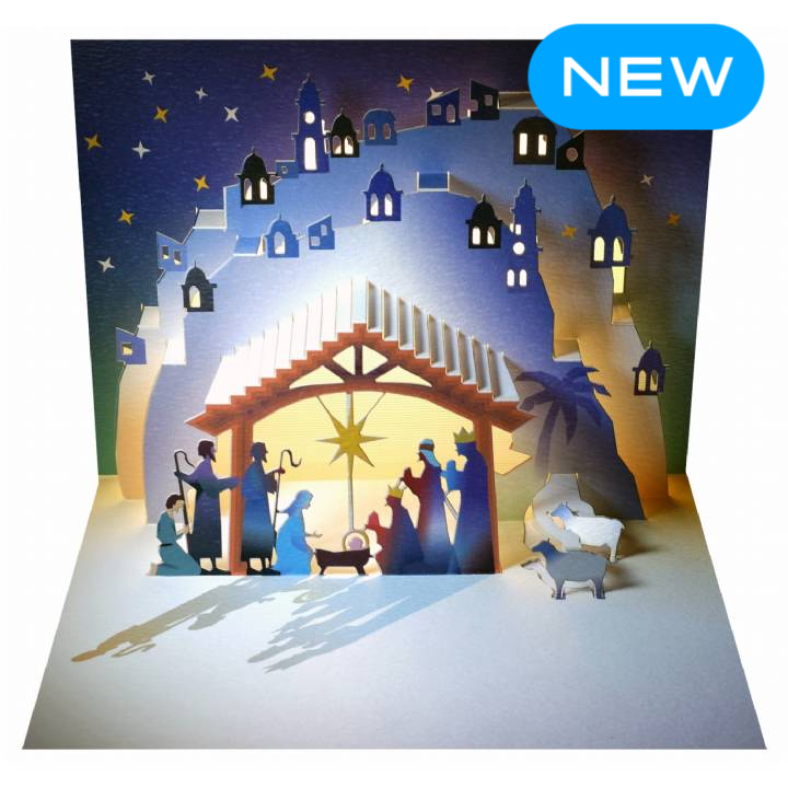 Forever POP UP card - Christmas manger