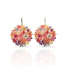 Load image into Gallery viewer, ORANGE BOUQUET GOLD SMALL EARRING