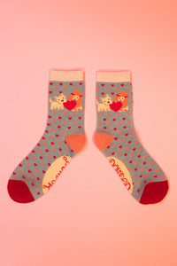 Puppy Love Ankle Sock, one size