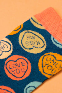 Love Hearts trainer Socks-one size