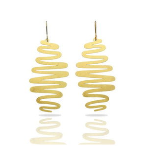 RIBBONS GOLD EARRING