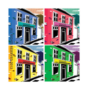 CONTEMPORARY DIGITAL ART Cards with Sheffield themes