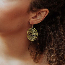 Load image into Gallery viewer, THE STARRY NIGHT GOLD EARRING