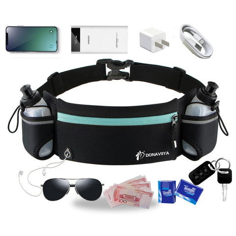 Trail Running Waist Belt Marathon Dual Pocket - Momomesh