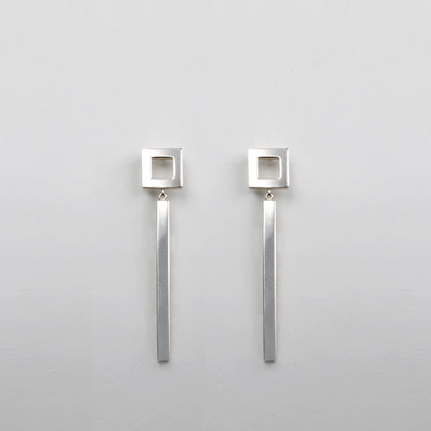 GEOMETRIC square earings
