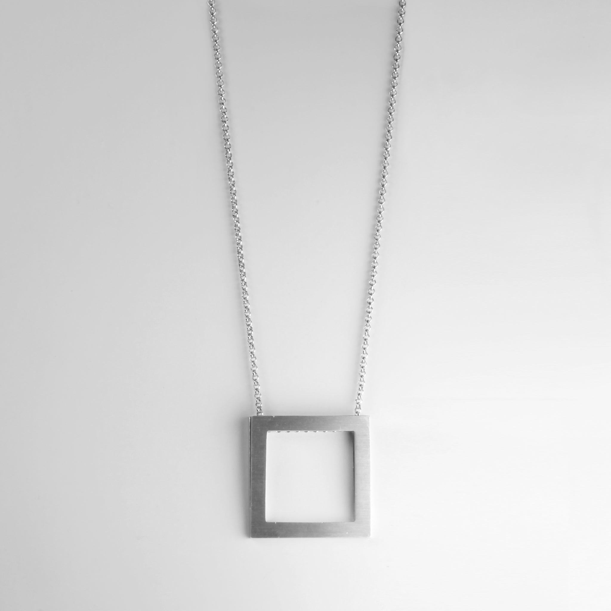 GEOMETRIC square long necklace