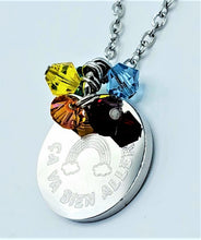 Load image into Gallery viewer, Rainbow Ça va bien aller / It's going to be fine Necklace