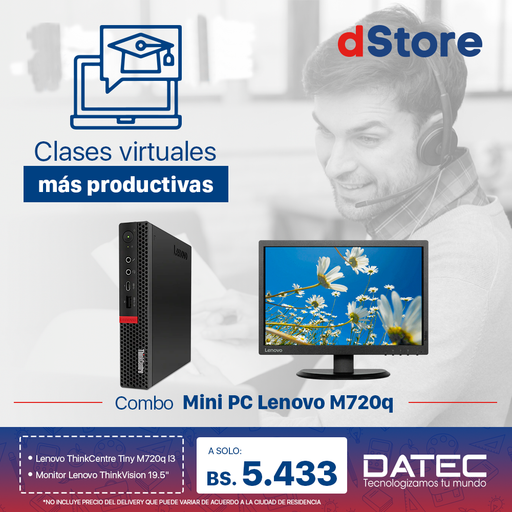 Combo Mini PC Lenovo M720q
