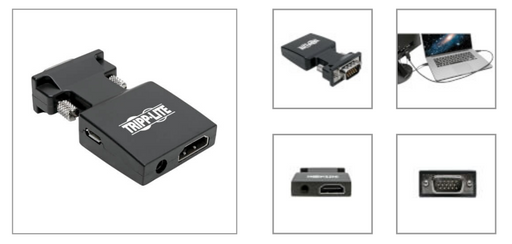 Convertidor Adaptador de Video Activo HDMI a VGA con Audio (H/M)