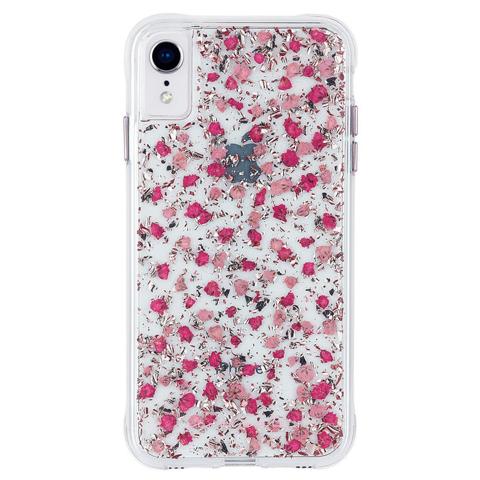 CASE MATE-Funda para iPhone XS MAX- Transparente con flores