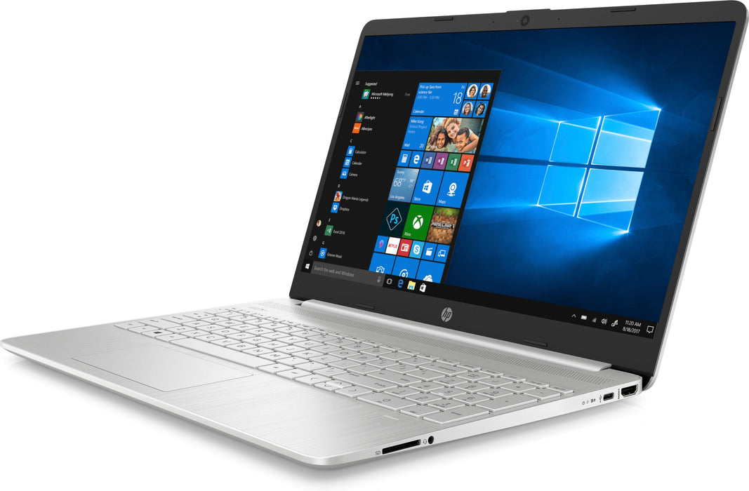 "NOTEBOOK HP MODELO 15-DY1091WM | INTEL CORE I3-1005G1, MEMORIA RAM DE 8GB, DISCO DURO DE 256GB SSD, 15.6"" HD DISPLAY, WEBCAM SISTEMA OPERATIVO WINDOWS 10 COLOR PLATA"